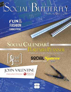 Social Butterfly Magazine Social Calendar & Portable Planner - August 2017 Social Spaces Issue