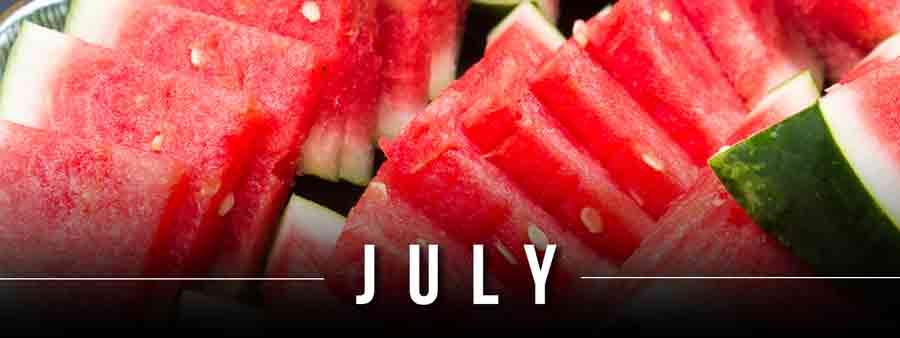 Social Eater/Drinker Calendar - July
