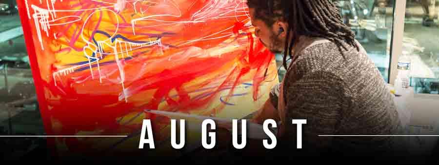Social Famous Calendar - August
