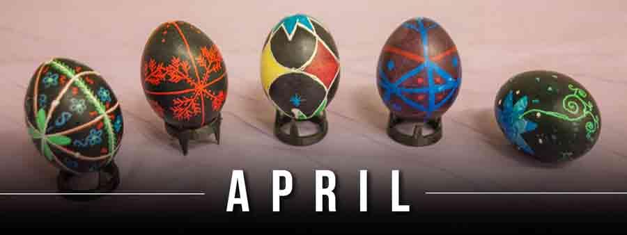 Social History Calendar - April