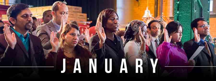 Social History Calendar - January