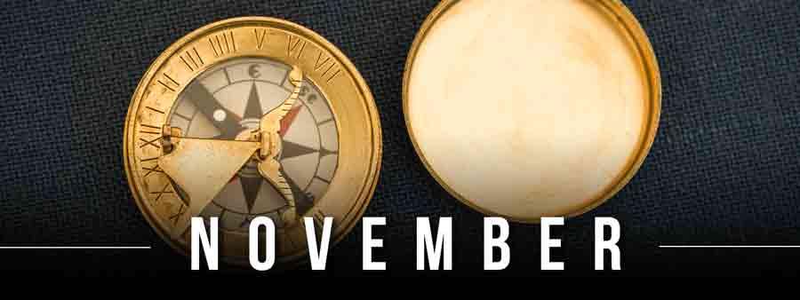 Social History Calendar - November