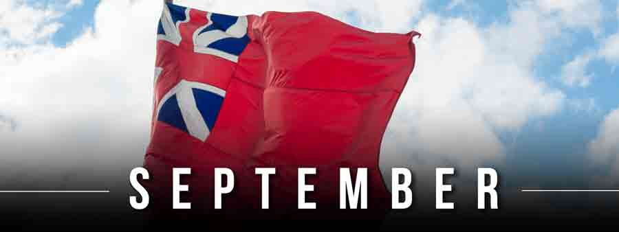 Social History Calendar - September