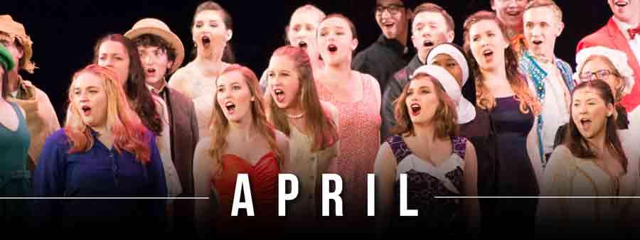 Social Music Calendar - April