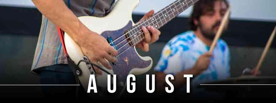 Social Music Calendar - August