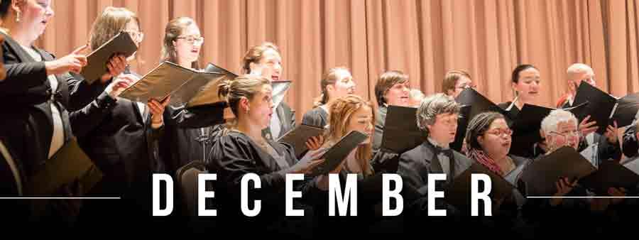 Social Music Calendar - December