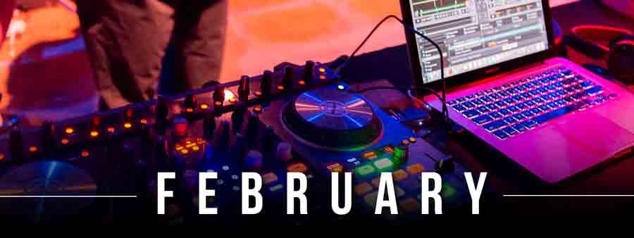 Social Music Calendar - February
