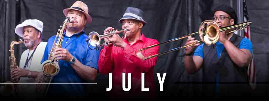 Social Music Calendar - July