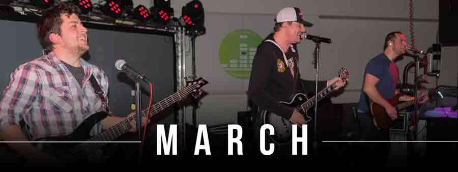 Social Music Calendar - March