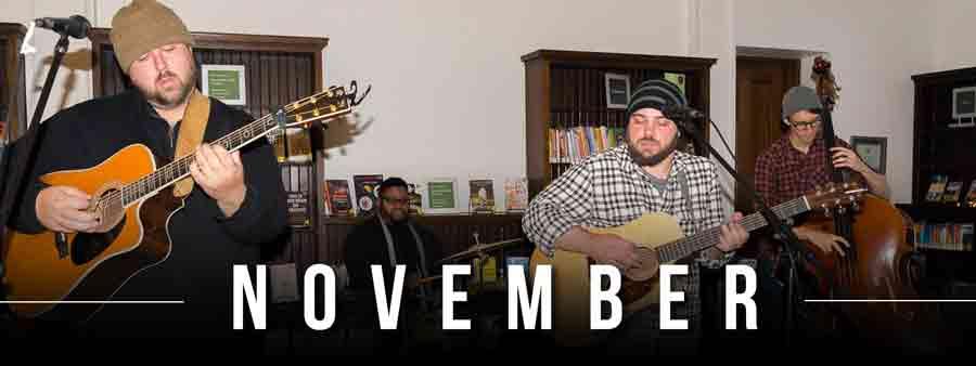 Social Music Calendar - November