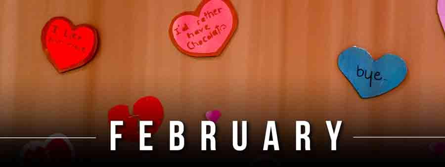 Social Wellness & Awareness Calendar - February